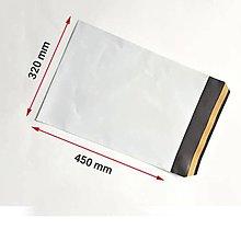Obalový materiál - Plastová obálka biela, dvojvrstvová , pevnejšia, 32 x 45 cm, 60 my A3 - 11085699_