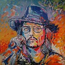 Obrazy - Johnny Deep - ručná maľba - 11085490_
