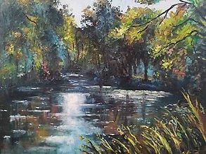 Obrazy - U rybníka - 11084075_