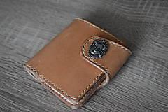 """Tašky - kožená peňaženka """"hell yeah"""" na zapínanie - 11084583_"""