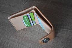"""Tašky - kožená peňaženka """"hell yeah"""" na zapínanie - 11084584_"""