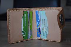 """Tašky - kožená peňaženka """"hell yeah"""" na zapínanie - 11084585_"""