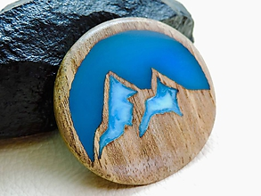 Odznaky/Brošne - Drevená brošna- Štíty hôr - 11085250_