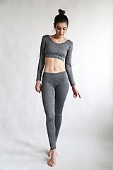 Nohavice - Gray Mouse - šedé legíny - 11085199_