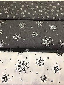 Textil - Vianoce...šedé vzory š.150cm - 11085407_