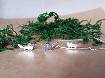 Sady šperkov - Strieborné šperky z kolekcie CUTE WILDNESS -LÍŠKA (minimalistický štýl) - 11085038_