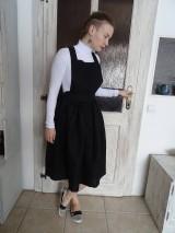 Sukne - Ľanová sukňa na traky - 11085027_