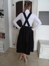 Sukne - Ľanová sukňa na traky - 11085029_