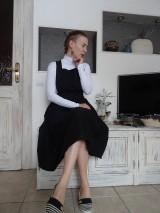 Sukne - Ľanová sukňa na traky - 11085032_