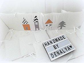 Textil - Mantinel 240x30cm horčicové domčeky - 11087092_