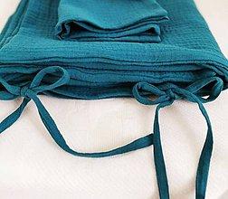 Textil - Mušelínové obliečky otočené vnútro bodkované 40x60/135x100cm - 11087189_