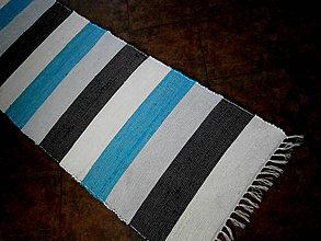 Úžitkový textil - tkany koberec pasik - 11088472_