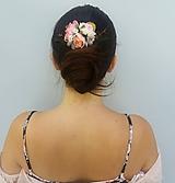 """Ozdoby do vlasov - Kvetinový hrebienok """"René"""" - 11088380_"""