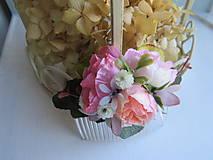 """Ozdoby do vlasov - Kvetinový hrebienok """"René"""" - 11088381_"""