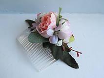 """Ozdoby do vlasov - Kvetinový hrebienok """"René"""" - 11088393_"""