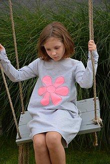 Detské oblečenie - Teplákové balónové šaty/tunika Mabel - 11087562_