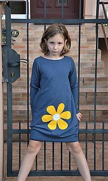 Detské oblečenie - Teplákové balónové šaty/tunika Moyra - 11088416_