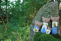 Hračky - Rodinka Medveďov s vtáčikami - 11087658_