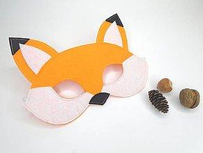 Hračky - Maska na tvár, škraboška (líška) - 11087093_