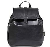 Batohy - Kožený batoh černý - 11089398_