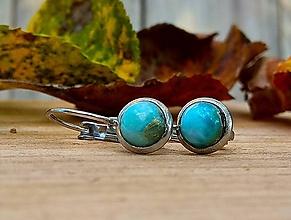 Sady šperkov - Visiace náušnice Larimar + prsteň - 11086736_
