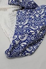Textil - Minky deka Folk, 100x70cm - 11087691_
