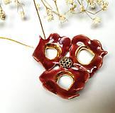 Náhrdelníky - Keramický šperk - Vínový kvet - 11088249_