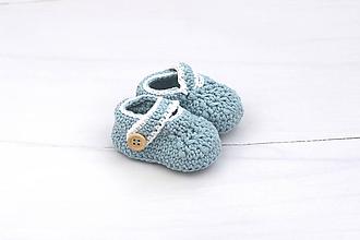 Topánočky - Modro-biele papučky EXTRA FINE - 11087586_