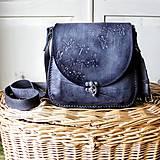 Kožená mini kabelka *šedá*