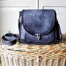Kabelky - Kožená mini kabelka *šedá* - 11088649_
