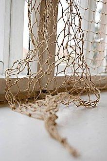Dekorácie - Dekoračná jutová sieť tenká (1,5 x 1,8m) - 11089412_