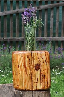 Dekorácie - Váza z jedľového dreva - 11089506_