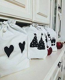 Úžitkový textil - Plátené vrecko nielen na Vianoce - 11089078_