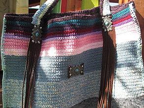 Veľké tašky - háčkovaná taška - 11088220_