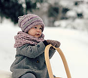 Detské doplnky - Sněhová královna - nákrčník Růžová mlha - 11089272_