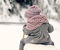 Detské doplnky - Sněhová královna - nákrčník Růžová mlha - 11089276_