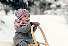 Detské doplnky - Sněhová královna - nákrčník Růžová mlha - 11089277_