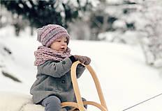 Detské doplnky - Sněhová královna - nákrčník Růžová mlha - 11089278_