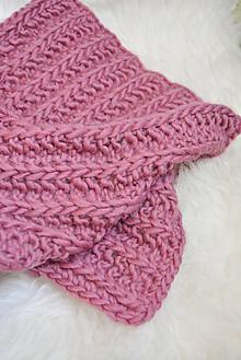 Textil - .detská deka (100% vlna) ružová - 11086594_