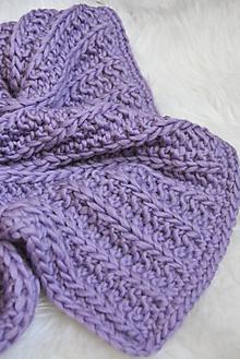 Textil - .detská deka (100% vlna) fialová - 11086671_