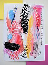 Kresby - -Abstrakt/kombinovaná technika- - 11088691_