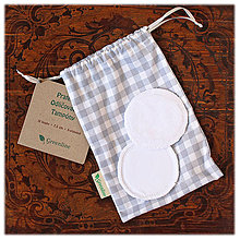 Úžitkový textil - Prateľné odličovanie tampóny, biele - 11087397_