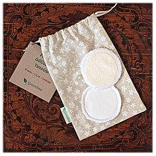Úžitkový textil - Prateľné odličovanie tampóny / smotanové 10 ks - 11087512_