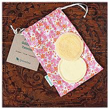 Úžitkový textil - Prateľné odličovanie tampóny / marhuľové 10 ks - 11087542_