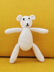 Hračky - Háčkovaný Ľadoví medvedík - 11088829_