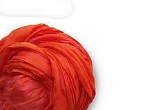 """Šály - """"orange"""" hodvábny šál (pléd, štóla) SKLADOM:-) - 11088013_"""