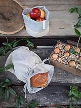 Úžitkový textil - Ľanové vrecko na chlieb Linen Memories - 11089260_