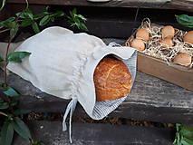 Úžitkový textil - Ľanové vrecko na chlieb Linen Memories - 11089261_