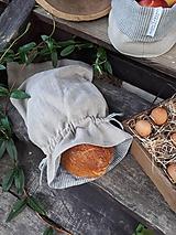 Úžitkový textil - Ľanové vrecko na chlieb Linen Memories - 11089262_