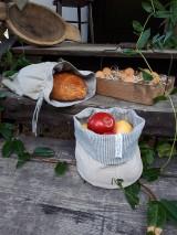 Úžitkový textil - Ľanové vrecko na chlieb Linen Memories - 11089264_